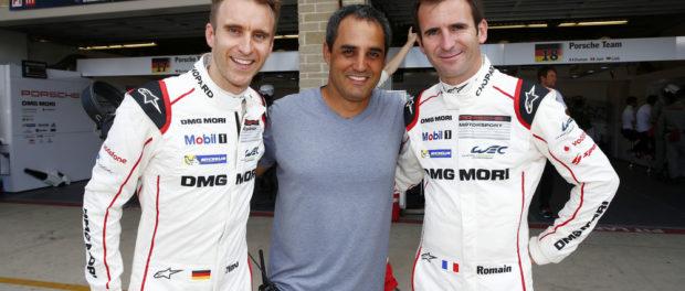 Timo Bernhard, Juan Pablo Montoya, Romain Dumas, 6 Stunden von Austin 2015 © Porsche